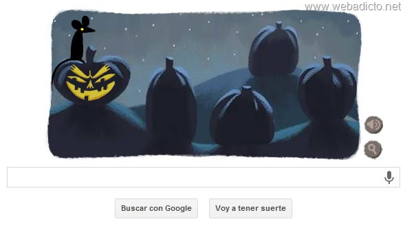 google doodle halloween 2013 hueso y manzana
