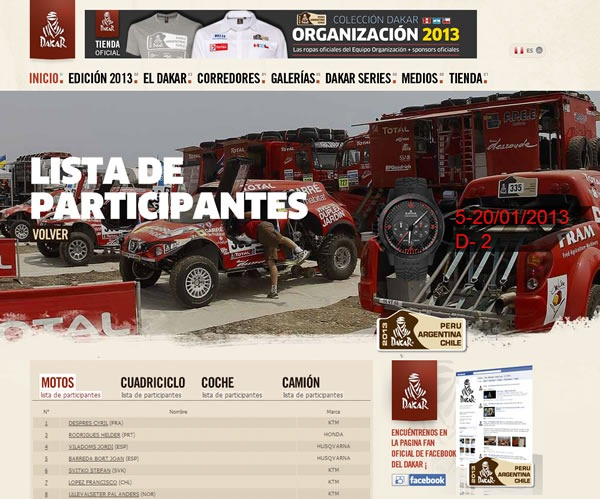rally-dakar-2013-participantes-pilotos-corredores-motos-cuadriciclo-coche-camion
