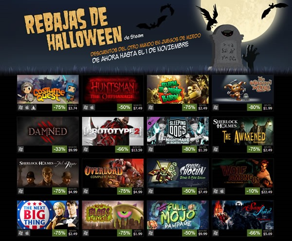 rebajas videojuegos steam halloween 2013