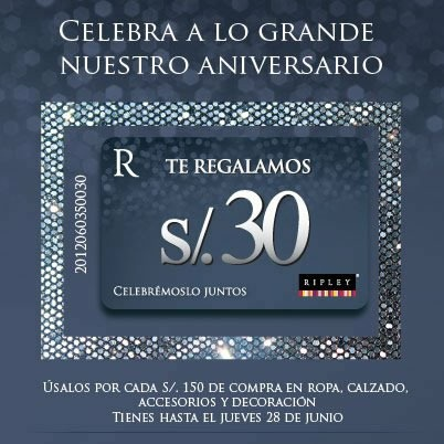 ripley-cupon-descuento-30-soles-15-aniversario-junio-2012
