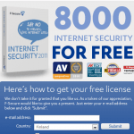 F-Secure Internet Security 2011 6 Months Free License