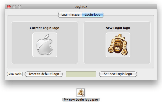 Change MAC login logo
