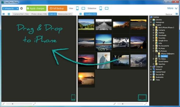CopyTrans Photo transfer