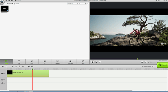 Video editing window