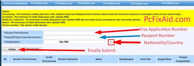 Malaysia visa check by passport number (1)