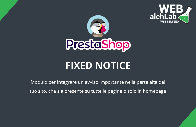 "Modulo ""Fixed Notice"" per Prestashop"