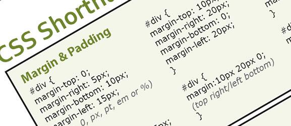 CSS Shorthand Cheat Sheet