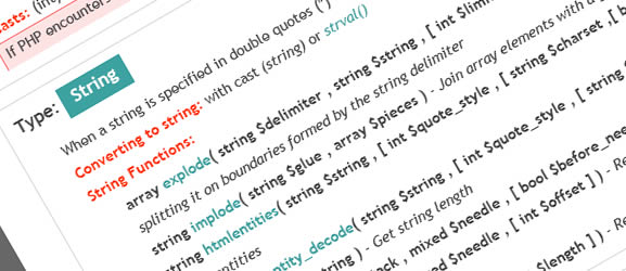 PHP 5 Online Cheat Sheet v1.3