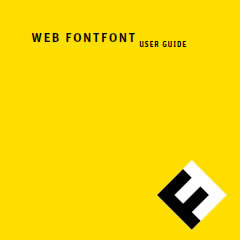 Web Font User Guide by FontShop