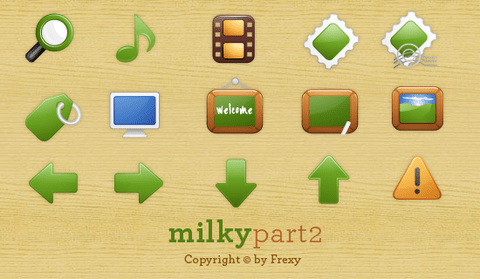 Milky Free Vector Icons