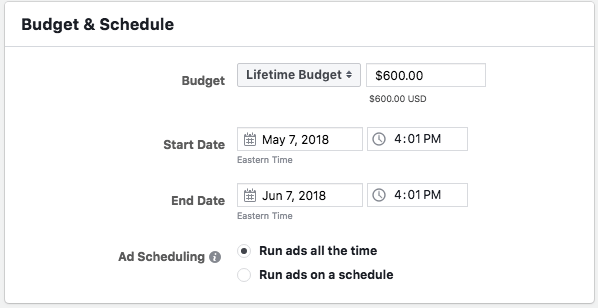 how much do facebook ads cost budget