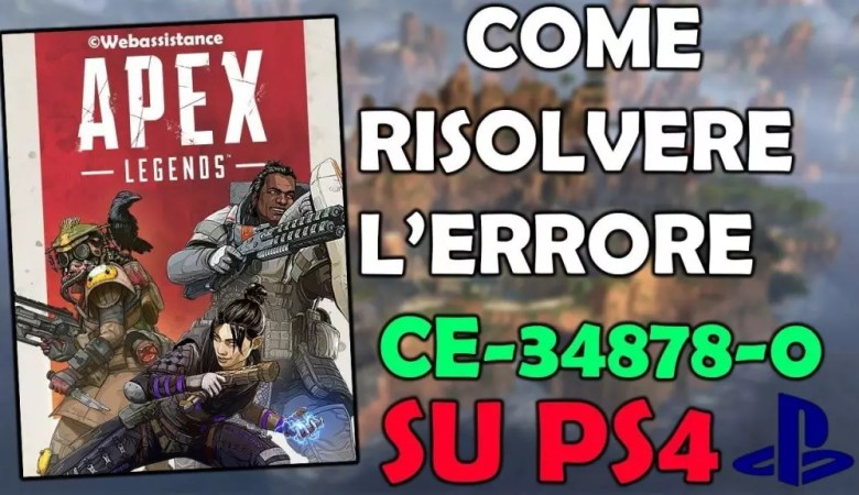 Errore CE-34878-0 Apex Legends