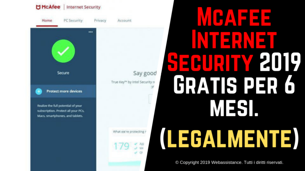 Mcafee Internet Security 2019 Gratis per 6 mesi (legalmente)