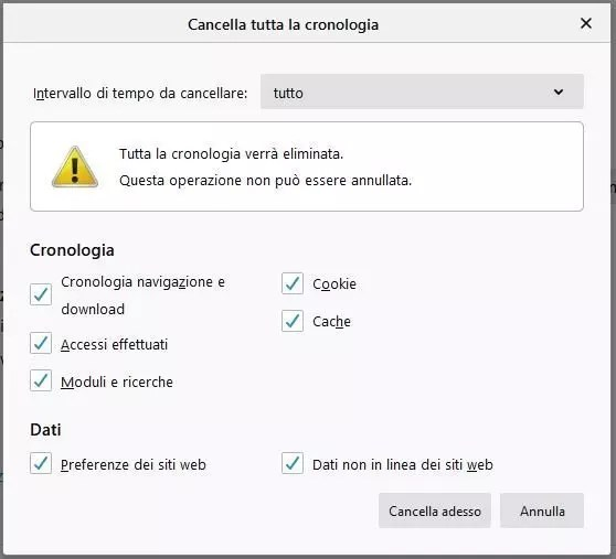 Come pulire il Browser Firefox