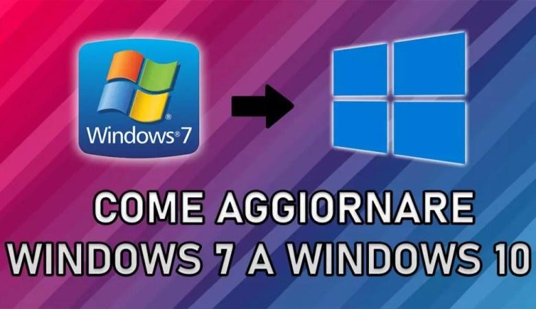 Aggiornare Windows 7 a Windows 10