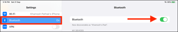 Attivare Bluetooth