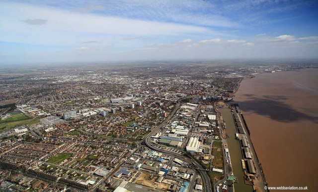 Kingston upon Hull from the west England UK aerial photograph | aerial  photographs of Great Britain by Jonathan C.K. Webb