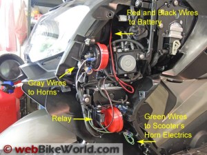Dual Horn Relay Wiring Harness  webBikeWorld