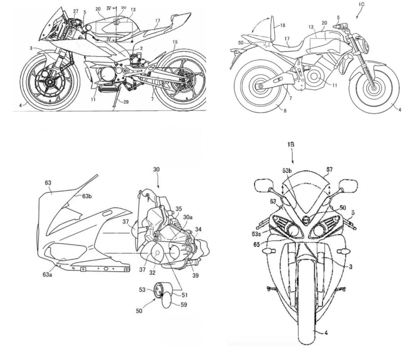 Yamaha Files Various Electric Motorcycle Patents