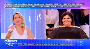 """Chiara Dalessandro a Pomeriggio 5 – la youtuber fa la spa con Costantino, la d'Urso: """"Sarai prima a i Nuovi Mostri"""""""