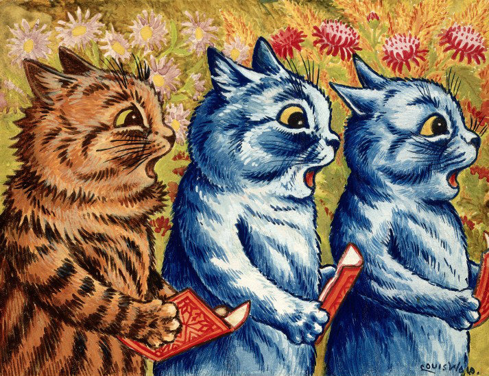 Louis Wain- 'Three Sing Cats'