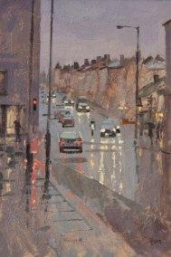Battersea Rise, Rain at Dusk