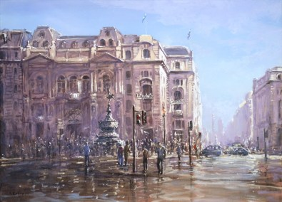 Piccadilly Circus After Rain 50x70cm
