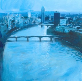 Arial View, City in Blue