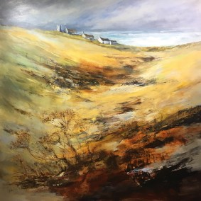 Towards St Just, Cornwall, 80 x 80 cm