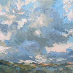 Evening sky - 30cm x 30cm