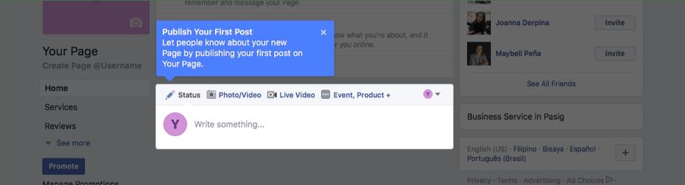 Publish Facebook Post, Web Champs Marketing