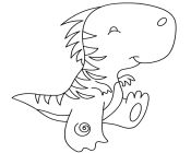 dinosaur coloring pages baby dinosaur