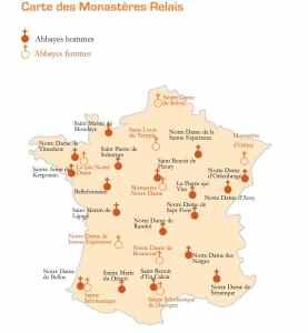 Carte monastères
