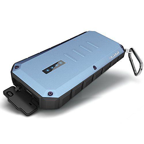 iWalk Spartan 13000mAh impermeabile IP66 dual USB LED