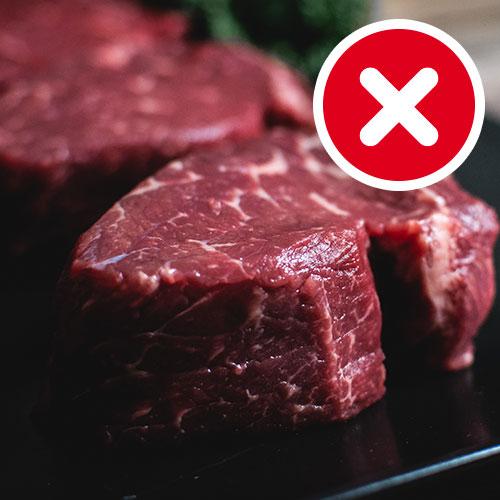 Dieta dash, carne roja