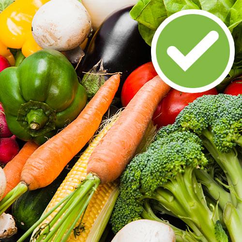 Dieta dash, verduras