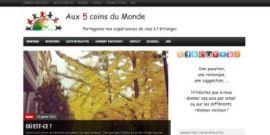 [blog] Développement d'un blog pour Aux cinq Coins du Monde