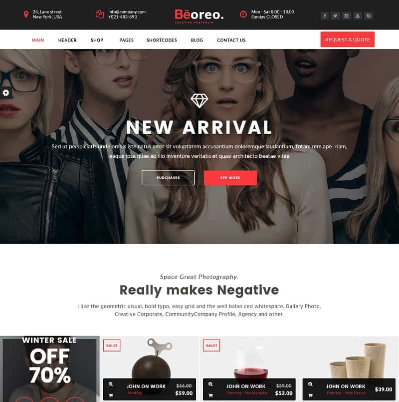 beorneo theme for creatives