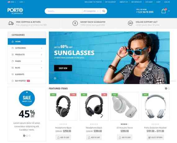 PORTO WordPress eCommerce theme