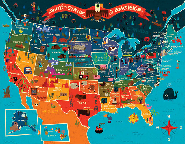 InfoGraphic Map Of USA