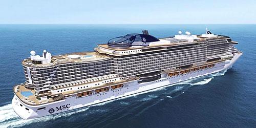 Le futur navire XXL MSC Seaside