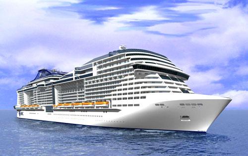 MSC Croisières : modélisation 3D de la nouvelle classe de navire MSC Vista