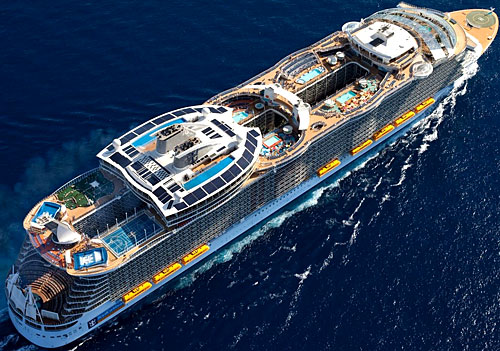L'Harmony of the Seas en mer
