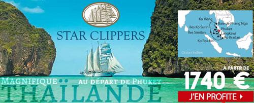 Le Star Clipper au départ de Phuket en Thaïlande