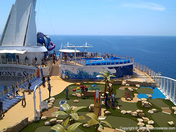 Mini golf Harmony of the Seas