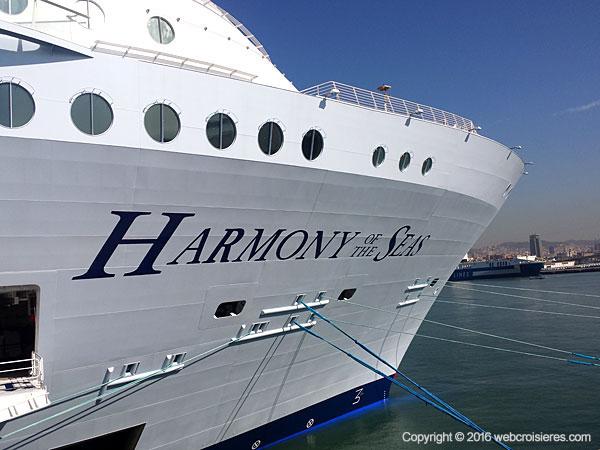 La proue de l'Harmony of the Seas