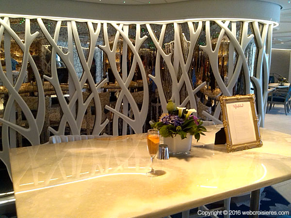 Le Wonderland : l'excellent restaurant moléculaire de l'Harmony of the Seas