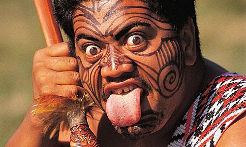 Guerrier maori néo zélandais