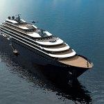 Projection d'un des futurs navires de la compagnie Ritz-Carlton