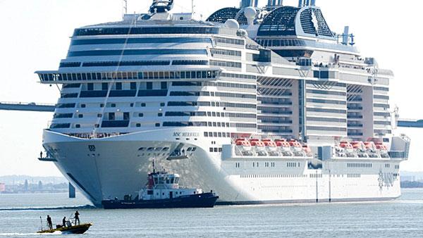 Le navire de croisière MSC Meraviglia